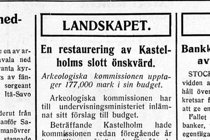 Artikel i Ålands Nyheter den 13.4.1929.